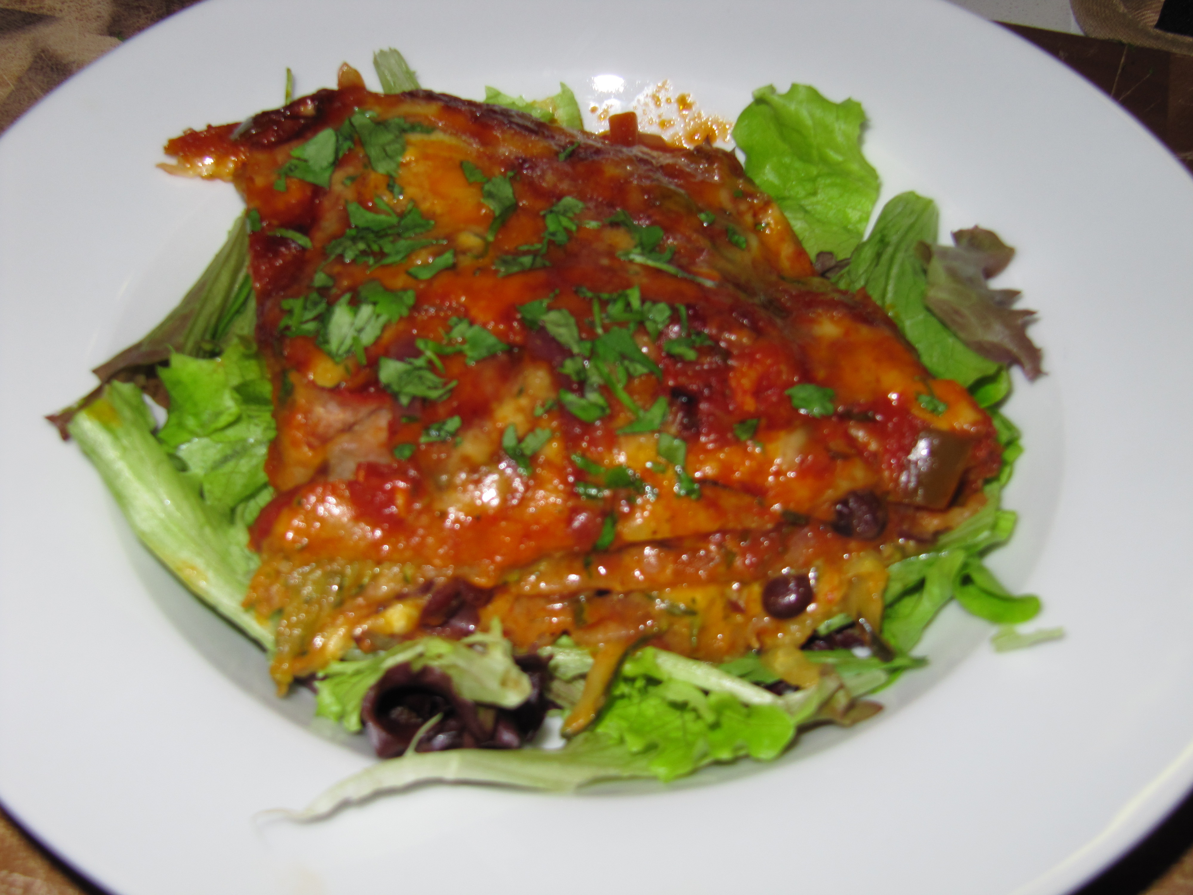 Stacked Black Bean and Zucchini Enchiladas - Eat Better to Live Better